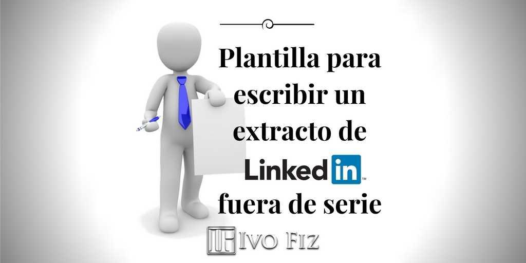 extracto linkedin plantilla