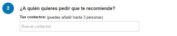 Pedir una recomendación en LinkedIn Paso 4